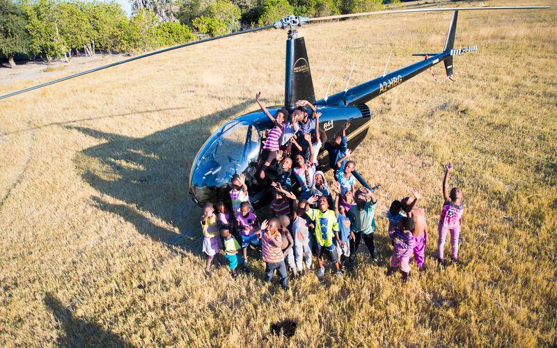 Okavango Delta Village Tour by Helicopter